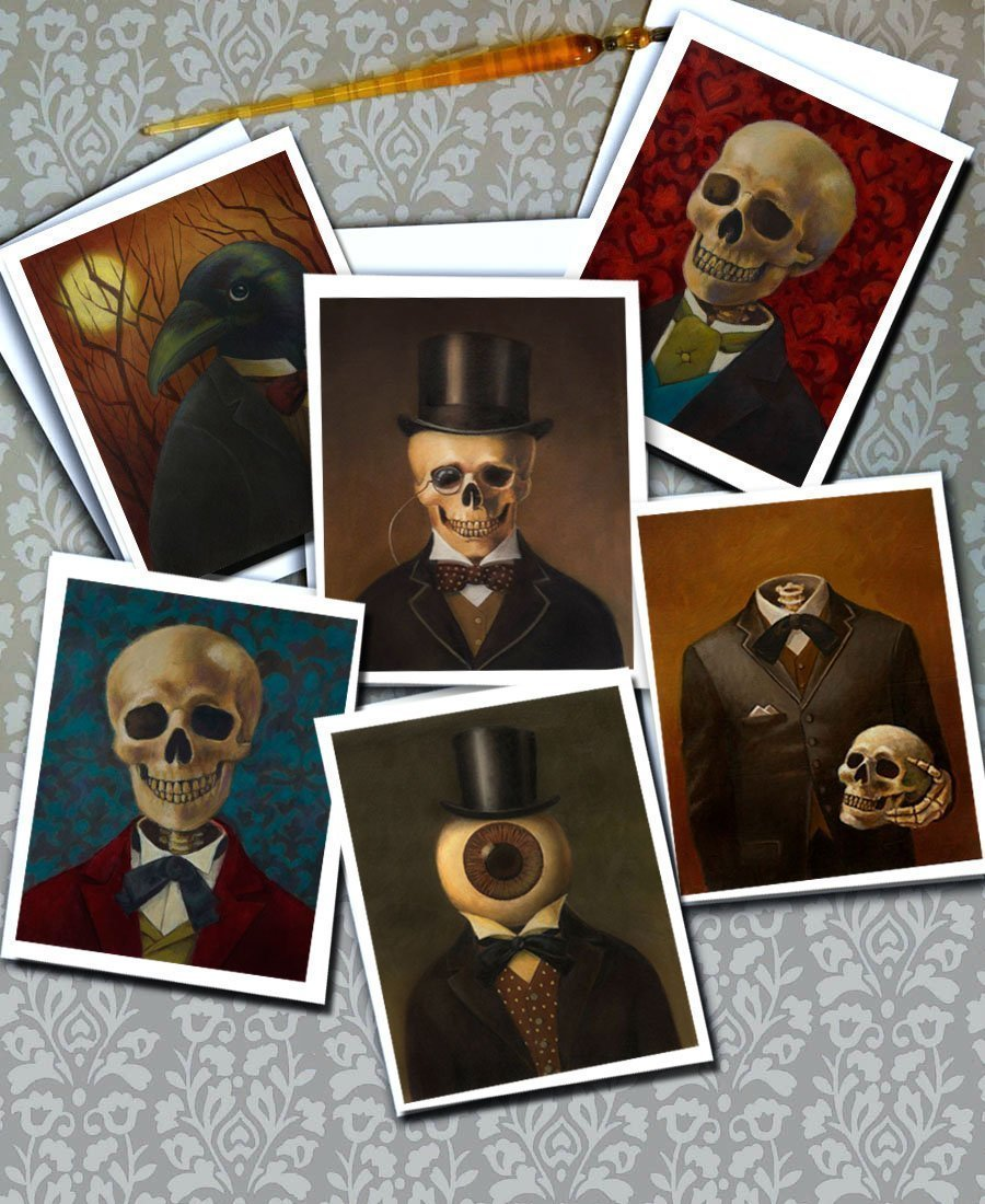 Skeleton Print - Headless - Skull Print - Victorian - Gothic - Steampunk 4