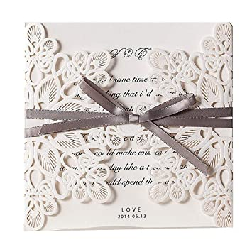 graphic about Printable Quinceanera Invitations identified as : JOFANZA Sq. Lace Wedding day Invites Playing cards