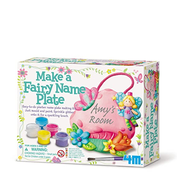Amazon com: 4M Make A Fairy Name Plate: Toys & Games