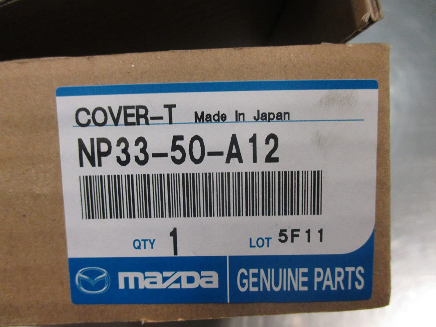 Mazda Mx-5 Miata 2009-2015 New OEM Driver side BLK tow hook cover NP33-50-A12