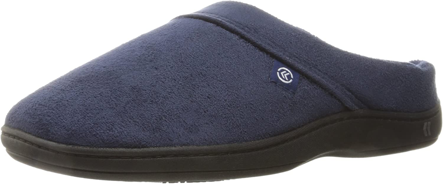 Men's Microsuede Devin Slip On Slipper with with Cooling Memory Foam for Indoor/Outdoor Comfort