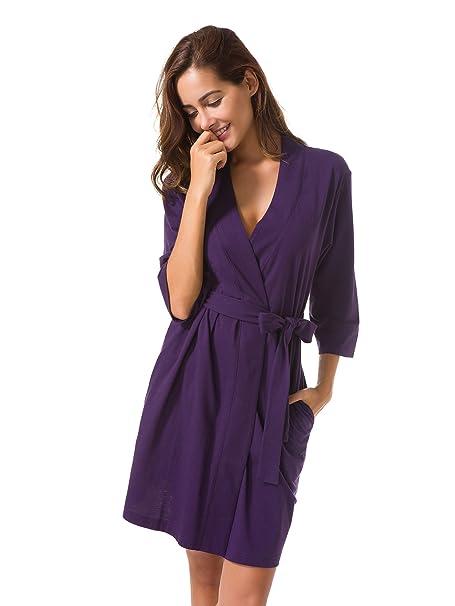 8165cfcba SIORO Mujer Vestido Pijama Vestido Pijama Suaves Ropa Dormir Camisón  Lencería Corto  Amazon.es  Ropa y accesorios