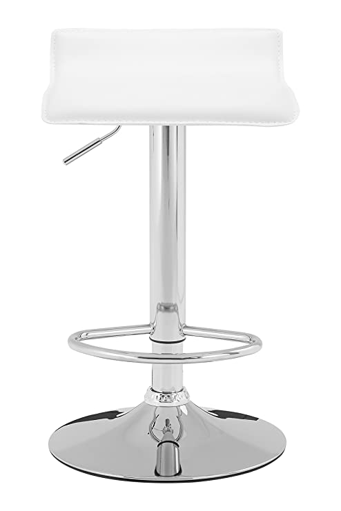 Strange Premier Housewares Carter Bar Stool With Pvc Seat White Spiritservingveterans Wood Chair Design Ideas Spiritservingveteransorg