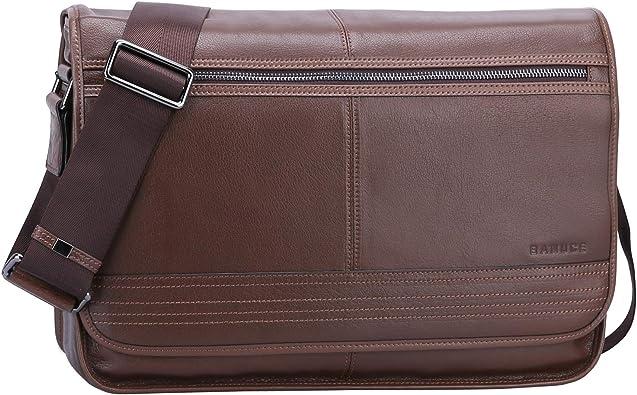 Vintage Mens Cross-body Shoulder Messenger Bag Leather Handbag Briefcase Purse