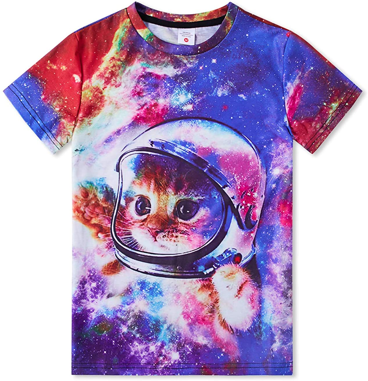 TUONROAD Short Sleeve Graphic Tees Crewneck T-Shirt Summer Shirt Tops Outfits for 6-14 Years Girls Boys