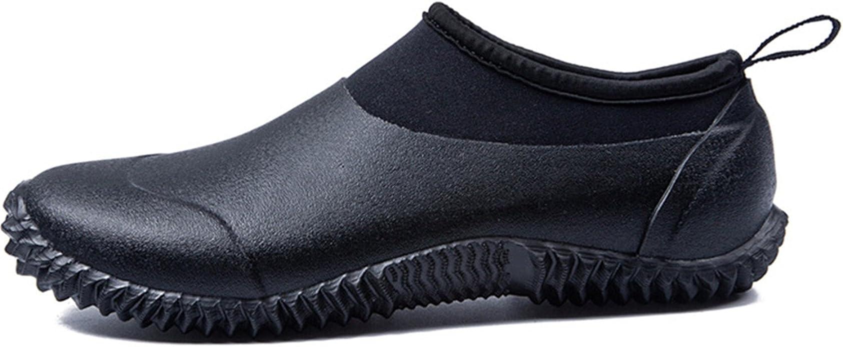 JOINFREE Chaussures imperm/éables /à Enfiler en n/éopr/ène pour Le Jardin//la Boue//lext/érieur Bottines de Pluie Bottes en Caoutchouc