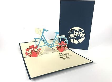Vintage bicicleta Pop Up Tarjeta de felicitación, diseño de ...