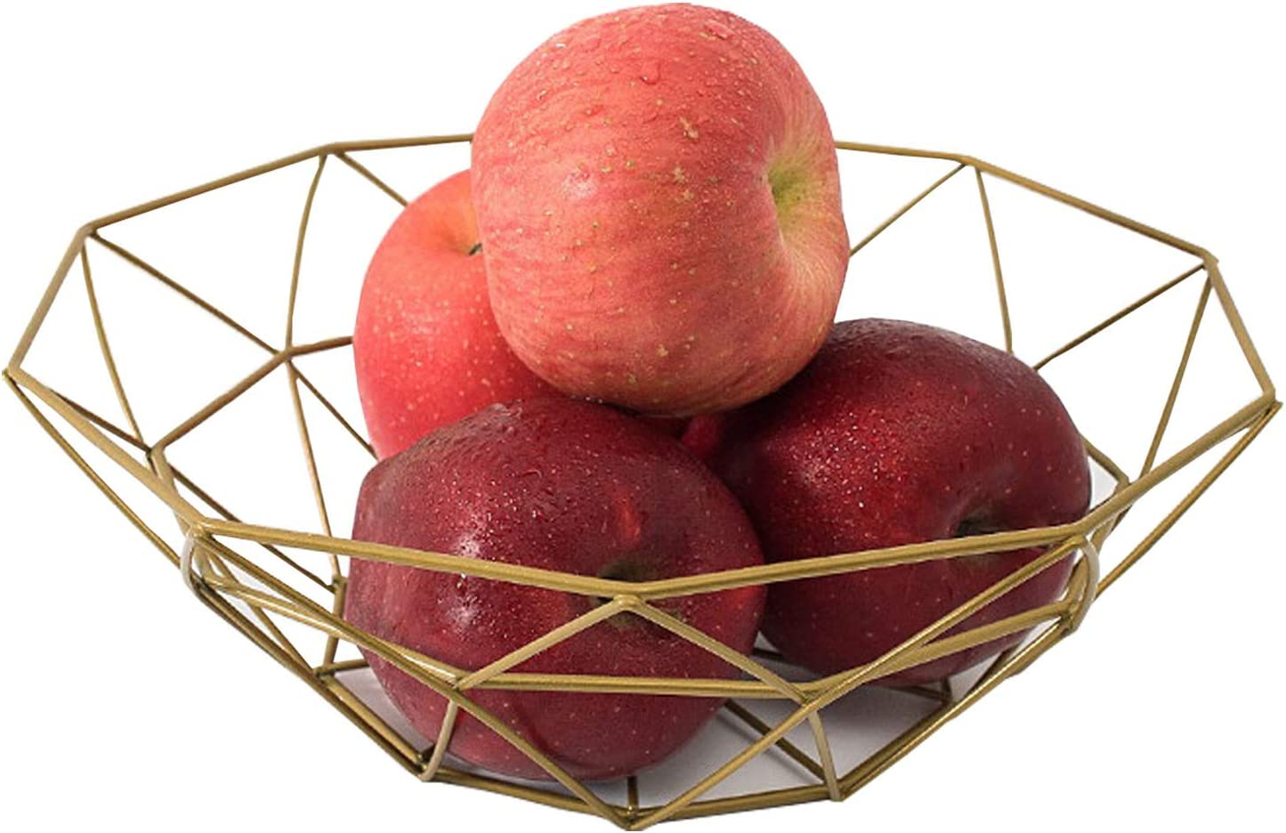 Fruit Stand Vegetables Serving Bowls Basket Holder for Kitchen Counters,Table Centerpiece,Farmhouse Decor,Party,Holiday Decoration,Metal Iron Wire,Modern Creative Stylish Single Tier Dish for Banana