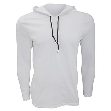 Anvil - T-shirt à manches longues et capuche - Homme  Amazon.fr ... 91fc99c0c4b