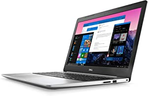 "Dell Inspiron 5000 Series 15.6"" FHD Notebook, AMD Quad-Core Ryzen 5 2500U Upto 3.6GHz, 8GB RAM, 1TB HDD, AMD Radeon Vega 8, HDMI, Card Reader, Wi-Fi, Bluetooth, USB, Windows 10 Pro (Silver)"