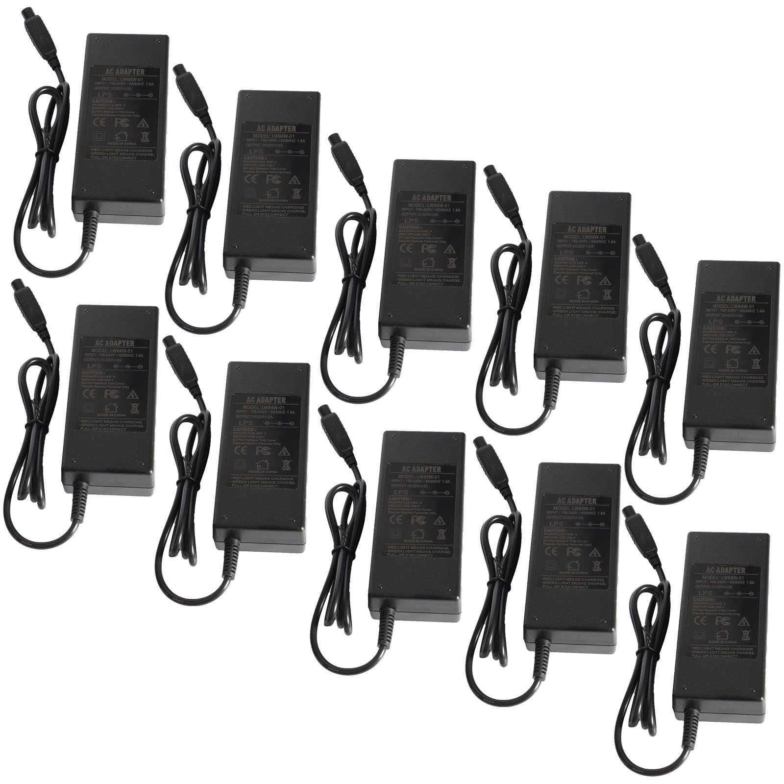 Fancy Buying Adapter Charger 42V 2A AC for Two Wheel Smart Self Balance Schooter (10 Pieces) by Fancy Buying (Image #1)