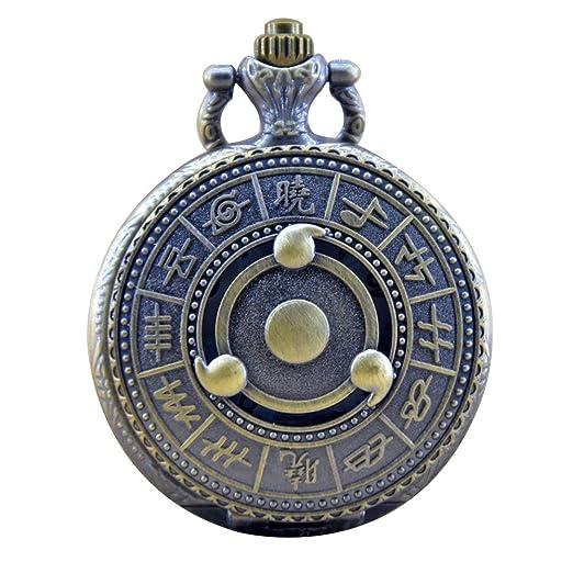 Naruto Weapon Konoha Ninja Village Quartz Pocket Watch Symbol Kakshi Itachi Cosplay Boys