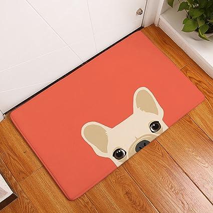Amazon.com: YJBear Thin Cartoon Beige Puppy Dog Print Rectangle ...