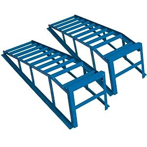 Cartrend 50156 Kit de rampes d'accès, très grandes et très larges, puissance de charge de 2 tonnes par paire, jusqu'à 225 mm de largeur de roues