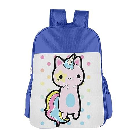 Ligero Niños Mochila Niño de gato Unicorn bolsa para el almuerzo