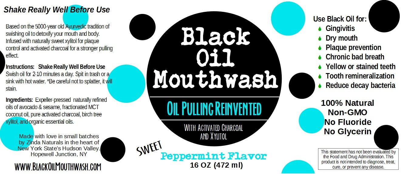 Amazon Black Oil Mouthwash For Oil Pulling Sweet Peppermint