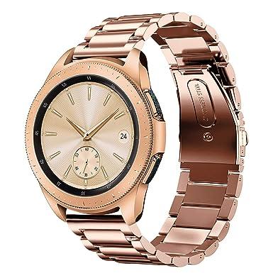 Sundaree Compatible con Correa Galaxy Watch 42MM,20MM Metal Acero Inoxidable Reemplazo Correas Banda Pulseras de Repuesto Smartwatch Correa para ...
