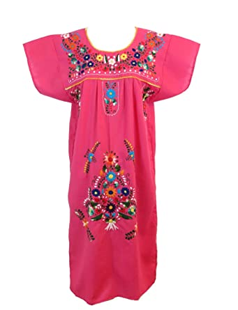 1d1e164f1 Image Unavailable. Image not available for. Color: Leos Mexican Imports  Mexican Dress Puebla ...