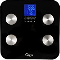 Ozeri Touch 440 lbs Total Body Bath Scale - Measures Weight, Fat, Muscle, Bone & Hydration with Auto Recognition and…
