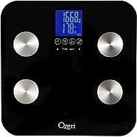 Ozeri Touch - Balance digitale 200kg maximum - Mesure le poids, les quantités de graisse, d'eau, de muscle et d'os - Fonction mémoire 8 profils