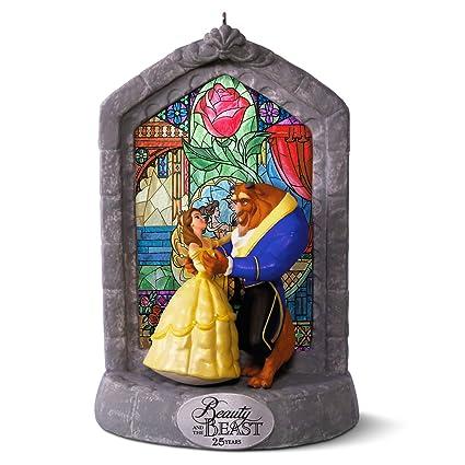 Amazoncom Hallmark Keepsake Disney Beauty And The Beast 25th