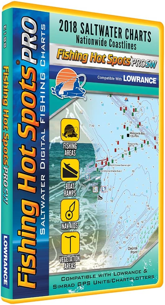 Fishing Hot Spots Pro SW – 2018 Digital Map & fishing Chip F/Lowrance & Simrad Units – Salt Water: Amazon.es: Deportes y aire libre