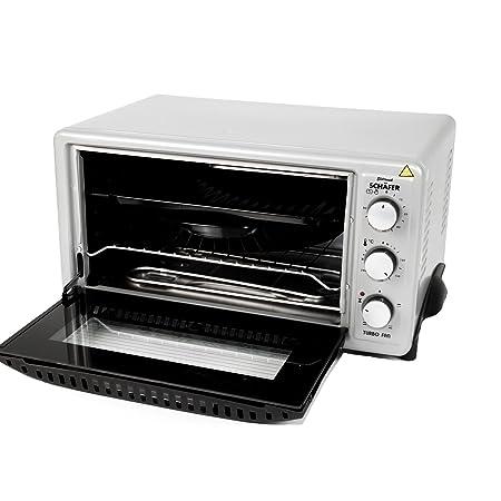 Mini horno 1450 W, 45 L Plata recirculación & iluminación Pizza ...