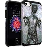 iPhone SE Case, DURARMOR iPhone 5S Star Wars Han Solo Dual Layer Hybrid Case ShockProof Slim Fit Armor Air Cushion Bumper Drop Protection Cover for iphone 5 SE 5S, Han Solo