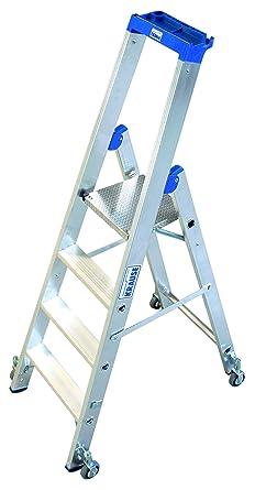 LDC616 Escalera de Tijera Standard con Ruedas, 8 Peldaño, 2.95 m Altura de Escalera, 1.6 m Altura Escalera, 0.95 m Altura Último Peldaño: Amazon.es: Industria, empresas y ciencia
