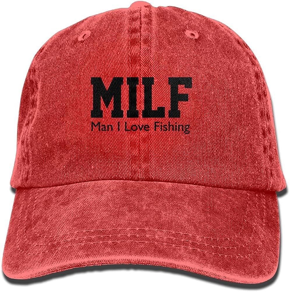 MANMESH HATT Milf Man I Love Fishing Unisex Adult Adjustable Trucker Dad Hat