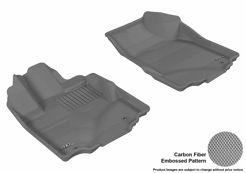 Gray Kagu Rubber 3D MAXpider Complete Set Custom Fit All-Weather Floor Mat for Select Honda Ridgeline Models