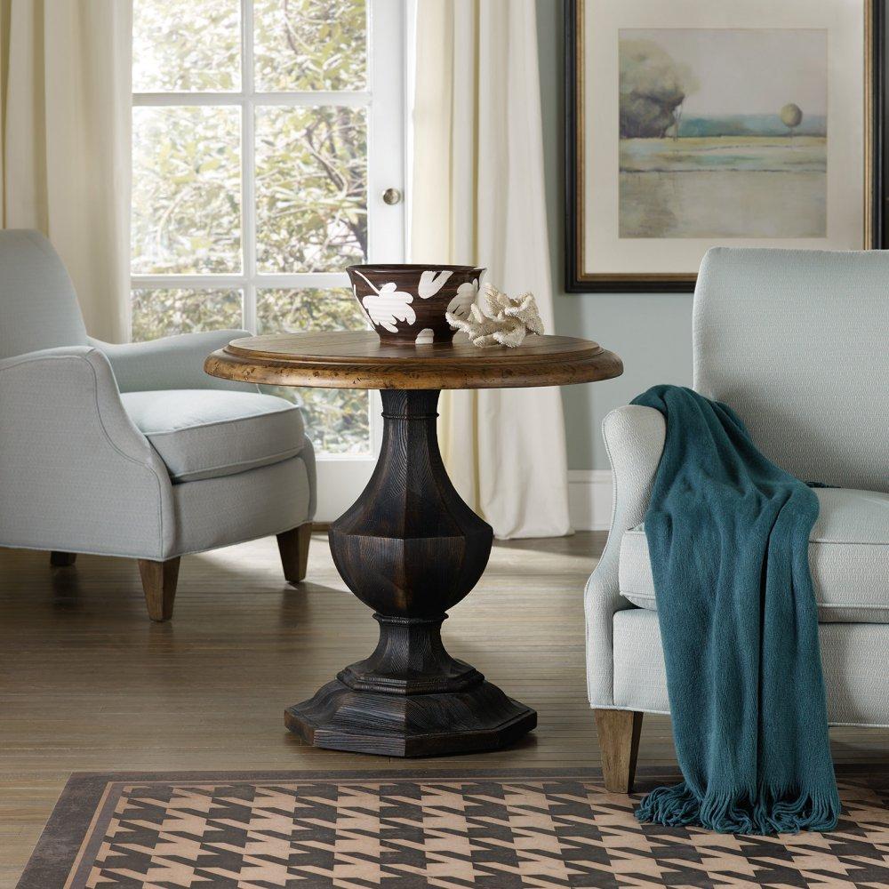 Hooker Sanctuary Round Pedestal Table in Black