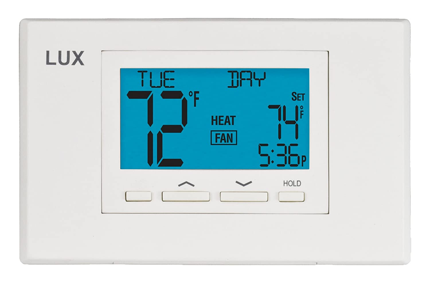 71hmuuk14rL._SL1500_ lux products tx500u universal 5 2 programmable thermostat  at bakdesigns.co