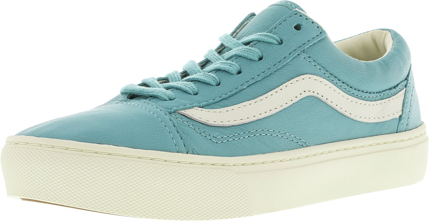 Vans Unisex Old Skool Classic Skate Shoes B019NGCXGA 10 M US Women / 8.5 M US Men|(Leather) Aqua Sea