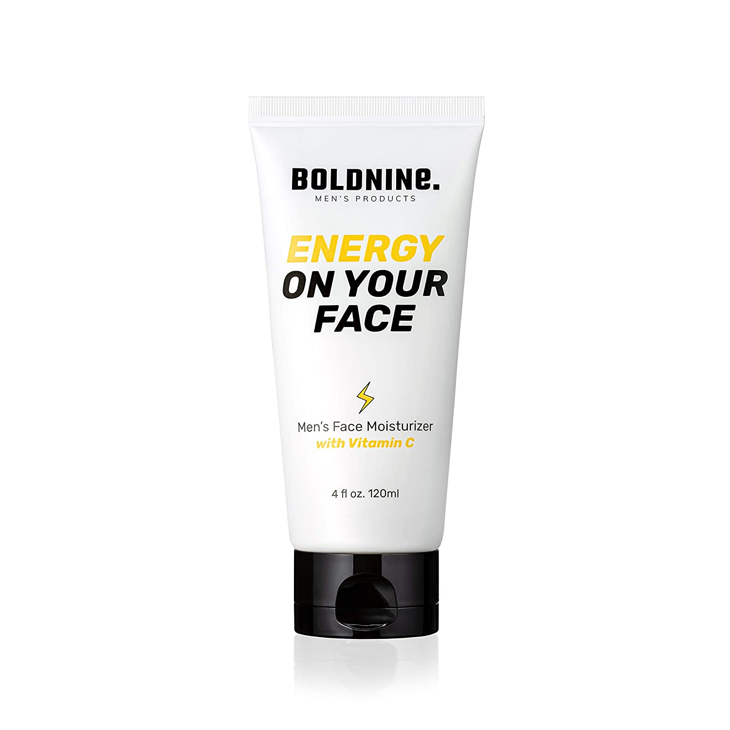 Boldnine Men's Vitamin C Facial Moisturizer 4oz | Improve Your Complexion with Hydrating Facial Cream, Camelia Oil | Suitable for Dry & Combination Skin, Natural Ingredients