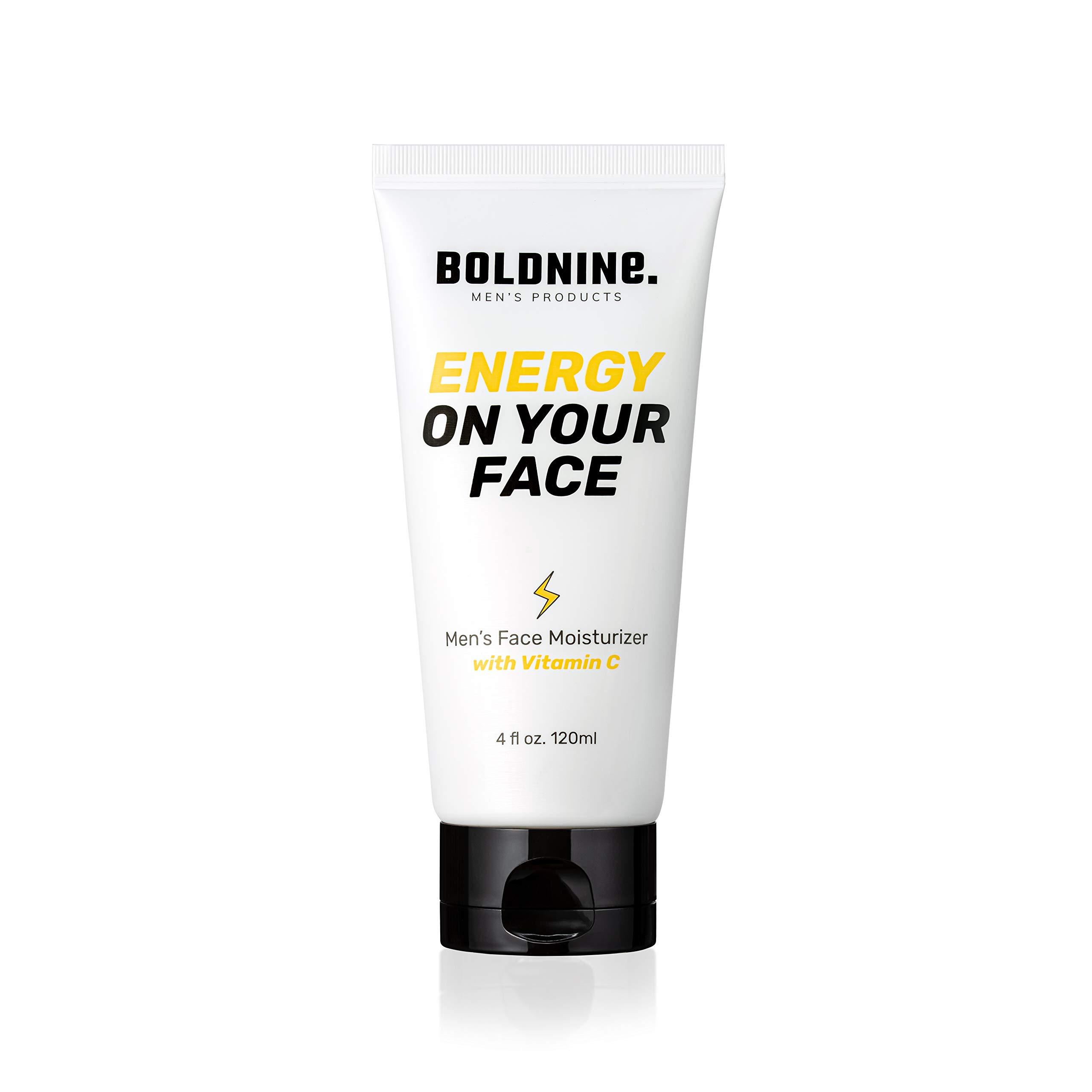 Boldnine Vitamin C Face Moisturizer for Men - 4oz | Anti Aging, Super Hydration | Suitable for Dry & Sensitive Skin, Natural Ingredients