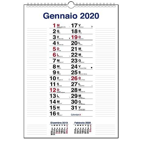 Calendario 2020 Con Numero Settimane.Calendario 2020 Olandese Da Muro 3 Mesi Con Righe Laterali