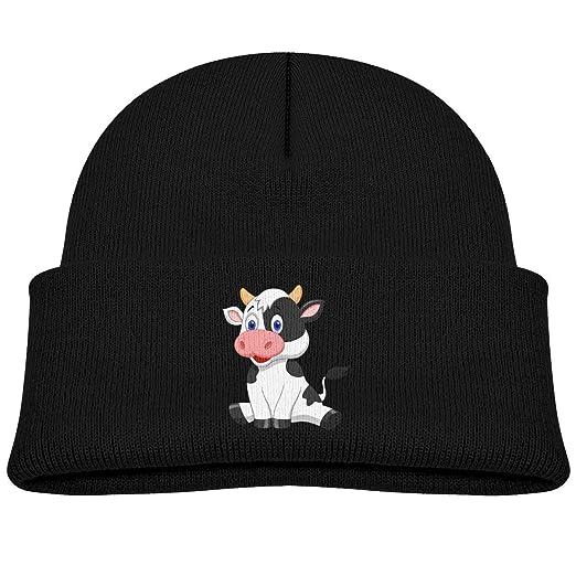 24f3c223229 Amazon.com  DREAM-S Kids Knitted Beanies Hat Cute Cartoon Cow Winter ...