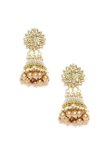 BambooTreeJewel Traditional Kundan Earrings BkC2I4AFL9