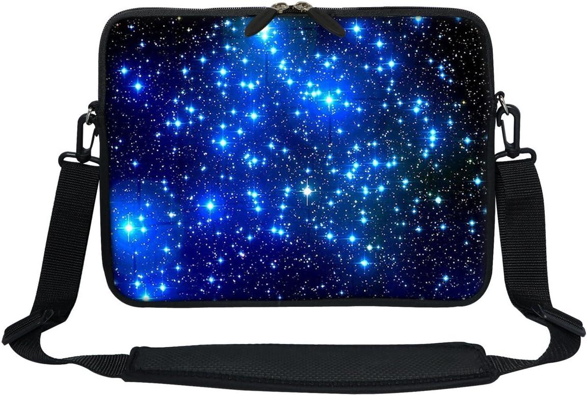 Meffort Inc 15 15.6 inch Neoprene Laptop Sleeve Bag Carrying Case with Hidden Handle and Adjustable Shoulder Strap Three Owls
