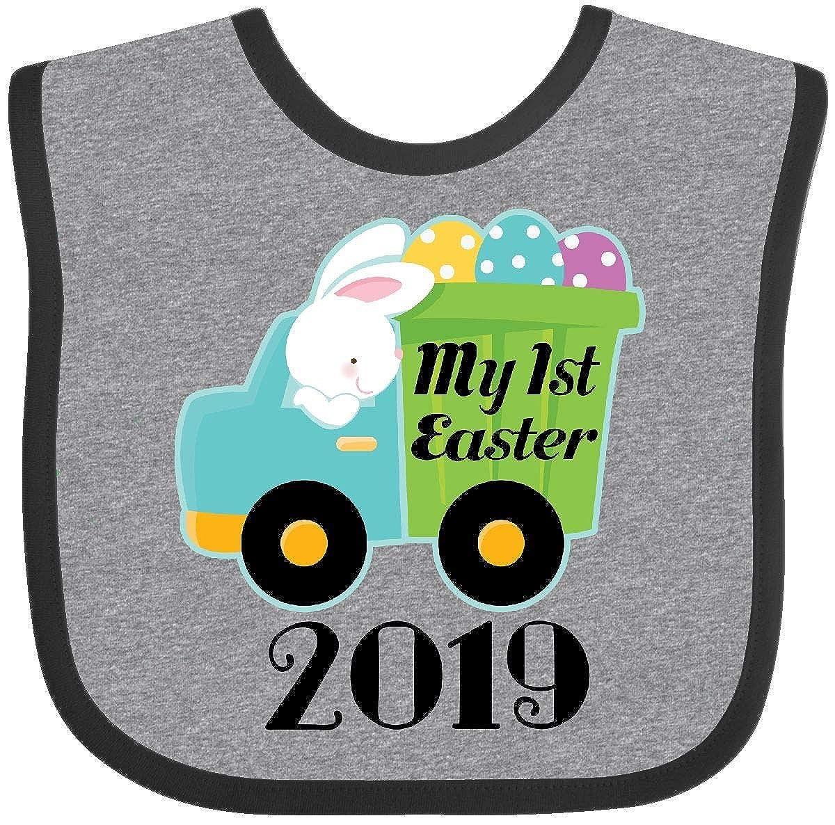 Inktastic - My 1st Easter 2019 Bunny Egg Truck Baby Bib 2e948 14-190792-116-887-2987