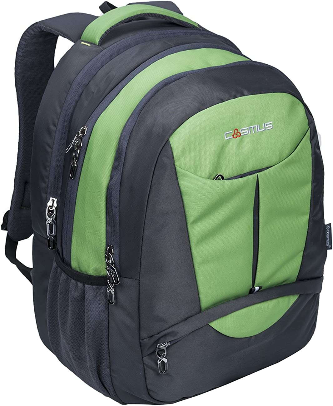 Cosmus Eden DX Grey P Green Polyester Waterproof Large Laptop Backpack