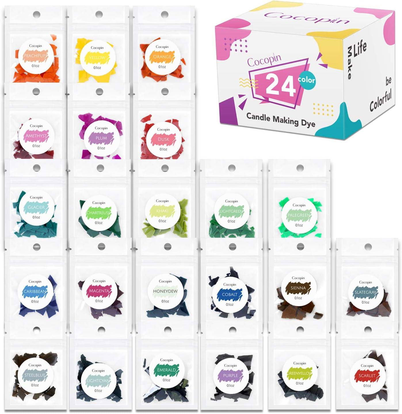 Pack de 24 virutas de cera, tinte para velas