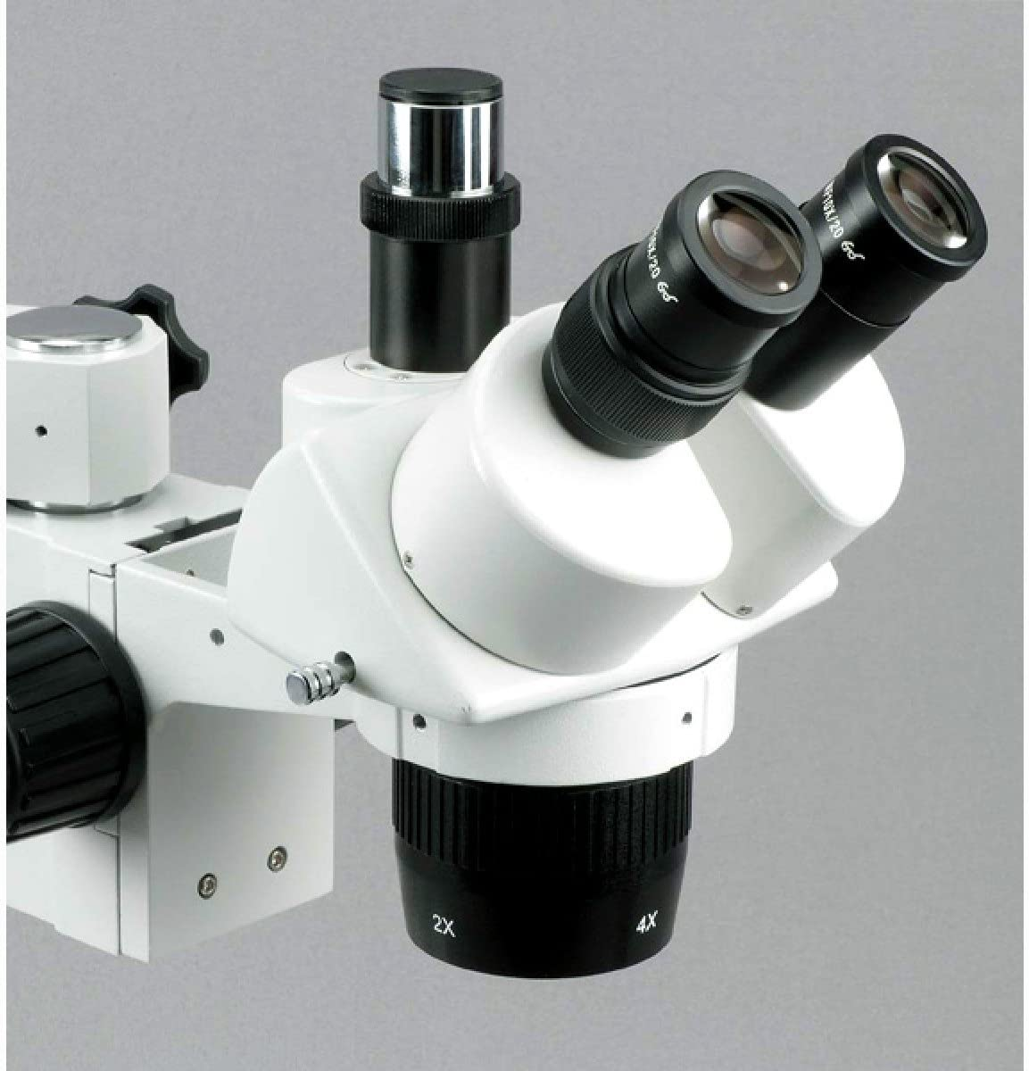 Single-Arm Boom Stand 10X//20X//40X Magnification AmScope SW-3T24X Trinocular Stereo Microscope Includes 0.5x Barlow Lens WH10x Eyepieces 2X//4X Objective