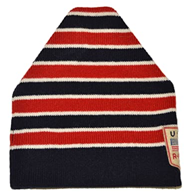20b7c6f27d6 Image Unavailable. Image not available for. Color  Ralph Lauren Rugby Mens  Women Polo USA Lambswool Skull Knit Cap Ski Hat Navy Red