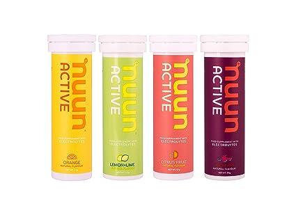 Comprimidos Electroliticos Nuun Hydration, 4 Tubos - 1 x Active Limón y Lima 1 x