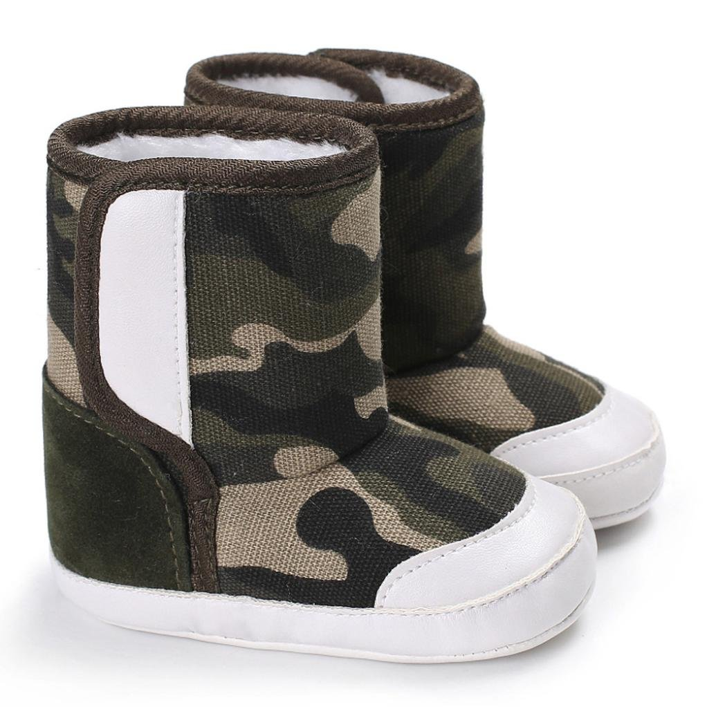 Fabal Camouflage Baby Soft Sole Snow Boots Soft Crib Shoes Toddler Boots