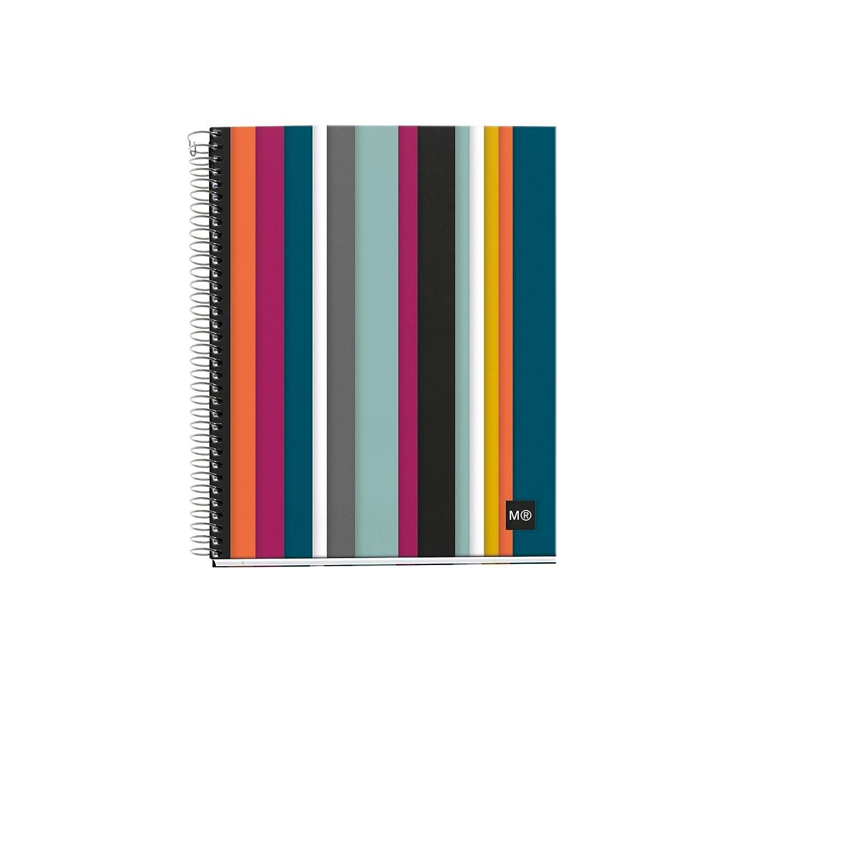 Miquelrius 2396 DIN A5, 148 x 210 mm, 120 hojas, 90 g//m/², cuadr/ícula Notebook 4 polipropileno oslo vertical m