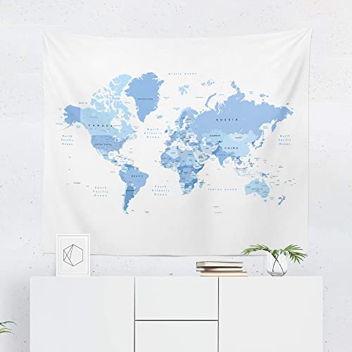 Amazon.com: Blue Map Tapestry - World Maps Globe Country ... on western maps of the world, vintage maps of the world, food maps of the world, abstract maps of the world, historical maps of the world, basic maps of the world, paper maps of the world, light maps of the world, cartoon maps of the world, china maps of the world, cute maps of the world, military maps of the world, wall maps of the world, landscape maps of the world, religion maps of the world, nautical maps of the world, country maps of the world, distorted maps of the world, classic maps of the world,