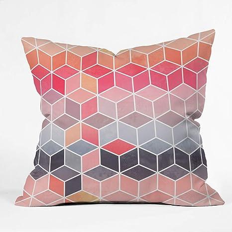 Deny Designs Elisabeth Fredriksson Happy Cubes Indoor Throw Pillow 18 X 18 Home Kitchen